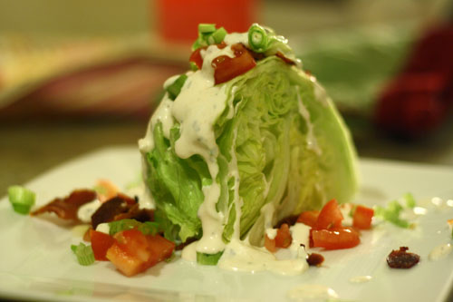 Wedge Salad with Creamy Homemade Buttermilk Ranch Dressing | Cordon ...